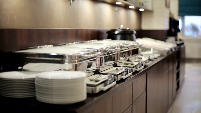 Buffet heated trays ready for service video