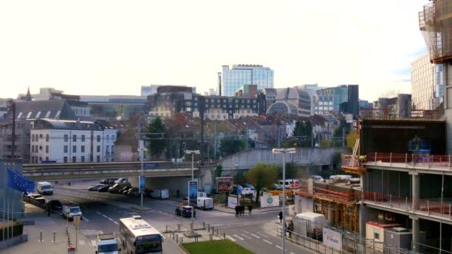 build new buildings in European quarter, Brussels video