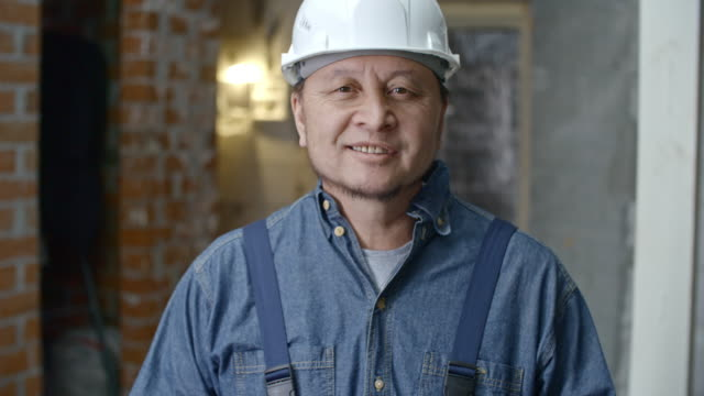 Builder Posing for Camera video