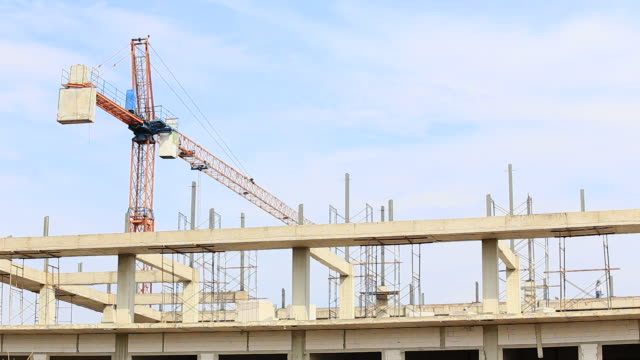Builders at Construction Site video