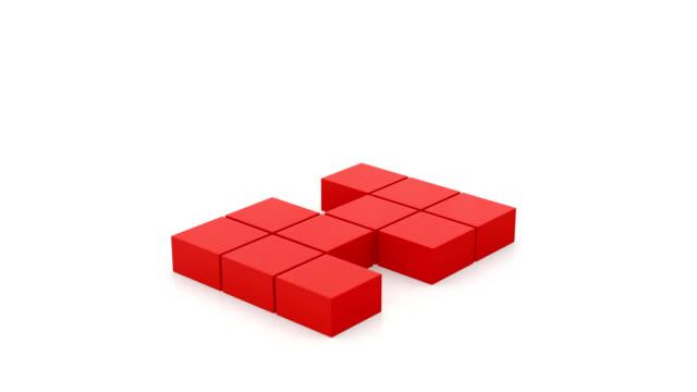 vidéos et rushes de animation de construction - cube