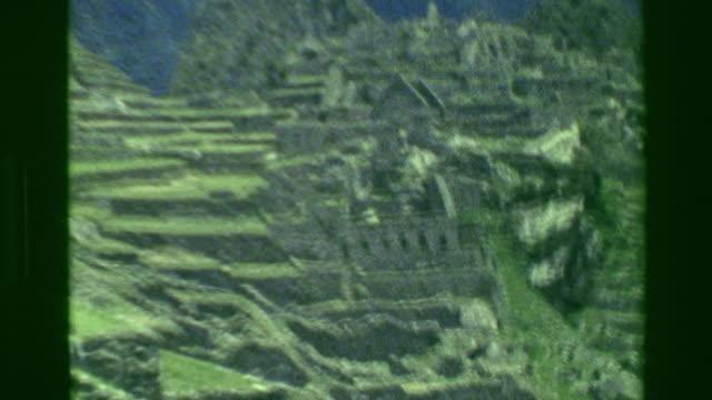 1977: Building architecture Machu Picchu native Inca civilization focus ruins. video