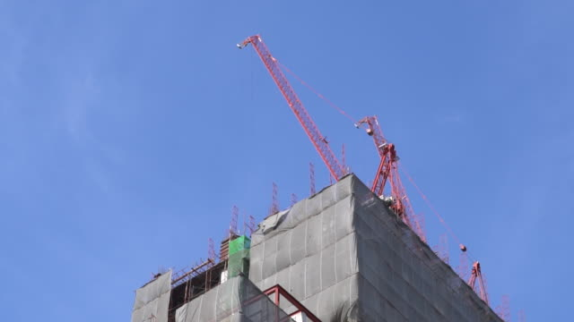 Building area Construction crane video