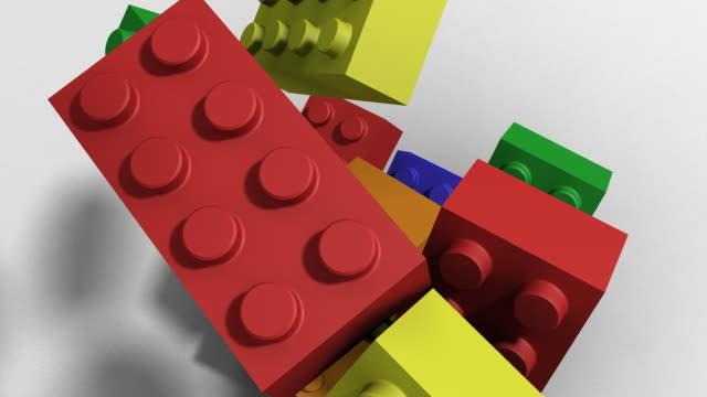 vidéos et rushes de blocs de construction - cube
