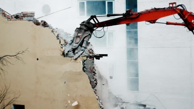 Building demolition video