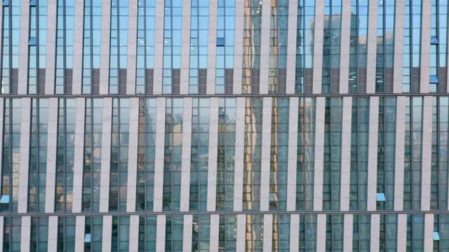 Building facade reflection video