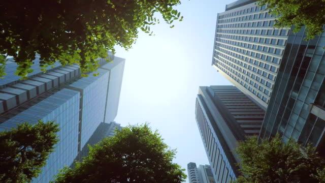 ビルのスタイルで、とても 4 k - 緑 ビル点の映像素材/bロール