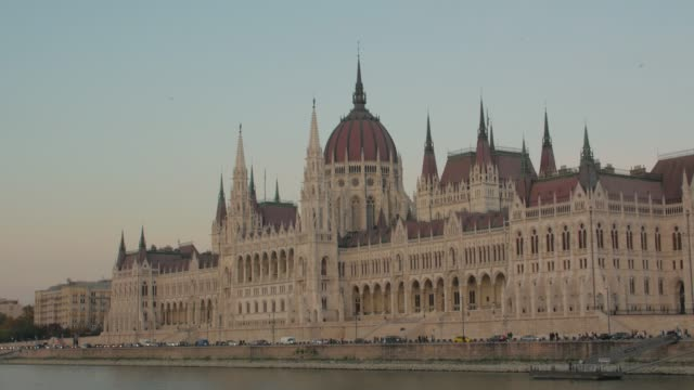 Building Of Hungarian Parliament Budapest
