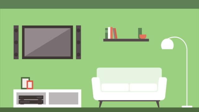 stockvideo's en b-roll-footage met bouwen van kamer interieur: keuken, woonkamer, badkamer, slaapkamer, kantoor - interior design