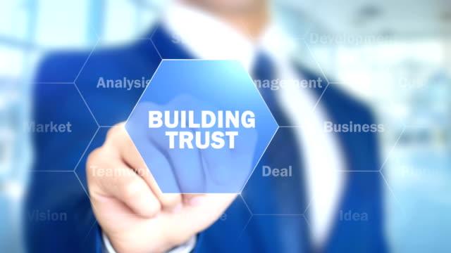 vídeos de stock, filmes e b-roll de construção de confiança, homem de negócios usando aumentada interface holográfica - assistente jurídico