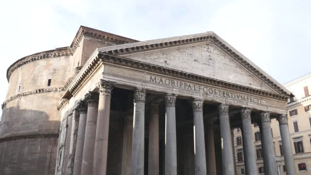 building with columns in Italy video