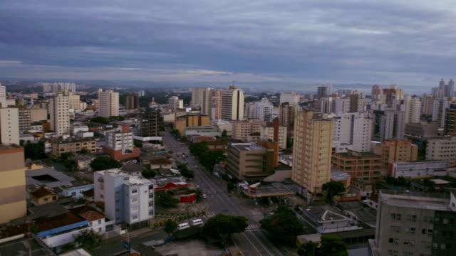 Buildings around the Civic Square in Goiania, GO, Brazil video