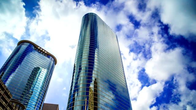 ヒューストン時間の雲と建物のガラスは 4 k 1080 p、消滅します。 - 合意点の映像素材/bロール