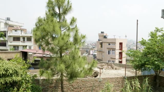 アジアの都市カトマンズ、ネパールでの建築物 - ネパール人点の映像素材/bロール