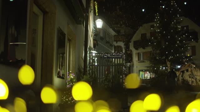 Buildings on a Christmas night