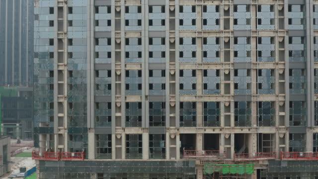 Buildings under construction video