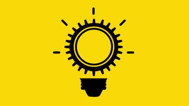 vídeos de stock, filmes e b-roll de lâmpada ícone do design, animação de vídeo - clipe