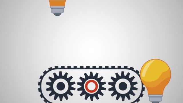Bulb light and big ideas HD animation
