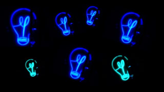 Bulb, Light, Blue Neon video