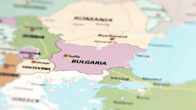 Bulgaria On Map Of World.Europe Bulgaria On World Map Stock Video More Clips Of 4k