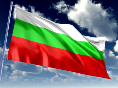 bandiera della bulgaria - politica e governo video stock e b–roll