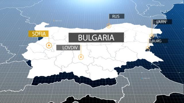 bulgariska karta - bulgarien bildbanksvideor och videomaterial från bakom kulisserna