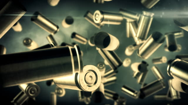 Bullets Falling slow motion video
