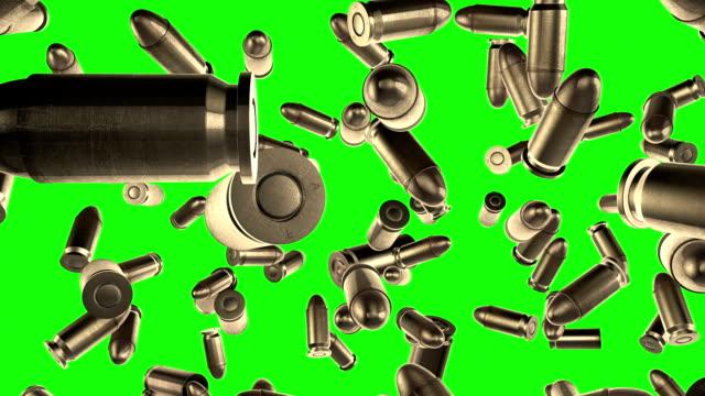 Bullets flight  Green screen  slow motion video