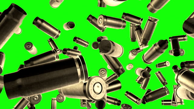 Bullets flight  Green screen Bullets gun stock videos & royalty-free footage