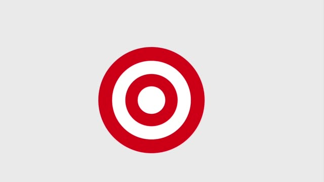 bullseye or target and arrow hitting icons - perfezione video stock e b–roll