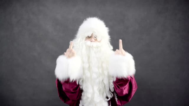 Bully Bad Santa Claus Shows Middle Finger video