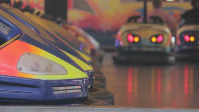 Bumper cars in action video