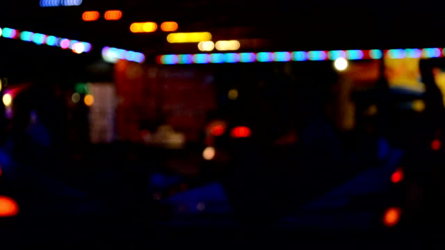 Bumper cars, out of focus. video