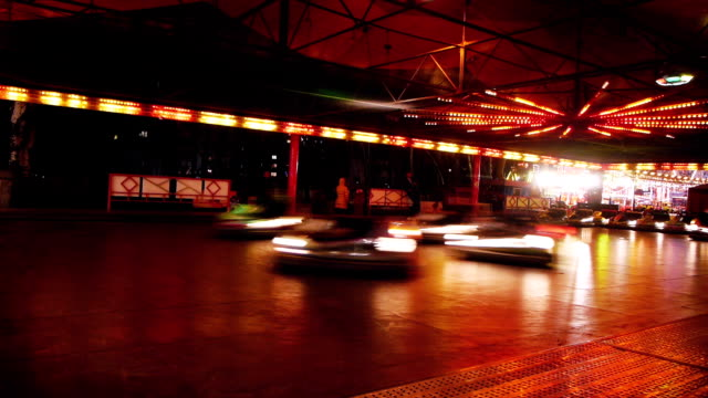Bumper cars timelapse video