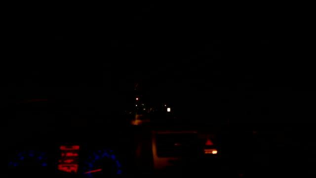 Bumpy Night Driving On Very Dark Road video