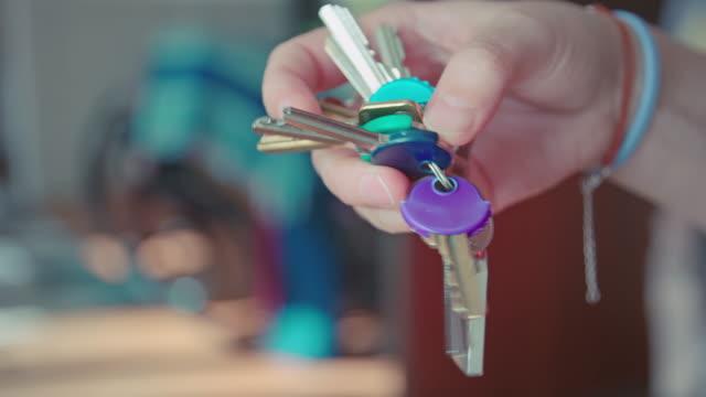 bunch of keys - key ring stock videos & royalty-free footage