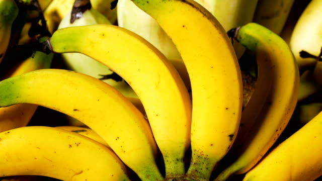 Bunch of ripe bananas video
