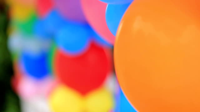 Bunches Of Colorful Balloons At Nature video