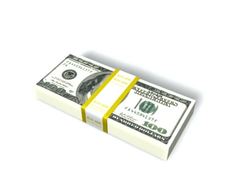 vídeos y material grabado en eventos de stock de tarjeta hundred dollar bills caer en stacks-pal - accesorio financiero