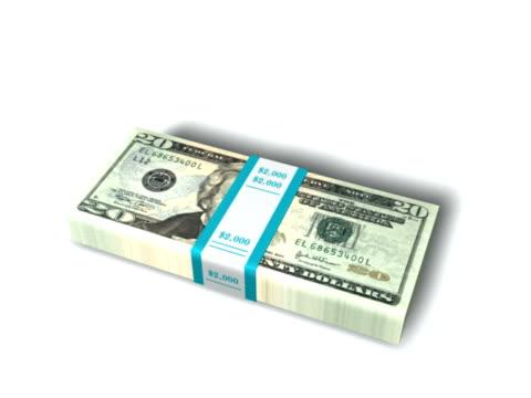 vídeos y material grabado en eventos de stock de tarjeta caer en un montón de dinero-pal - accesorio financiero