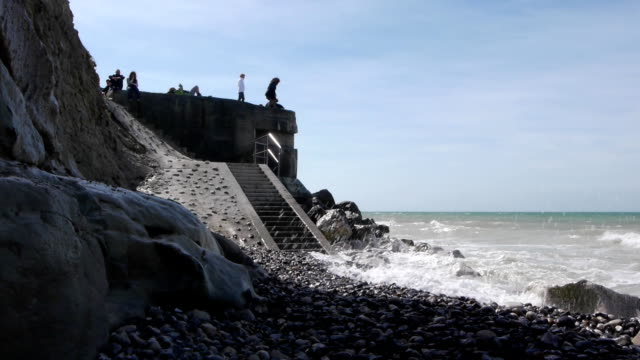Bunker at the sea near Calais, France video