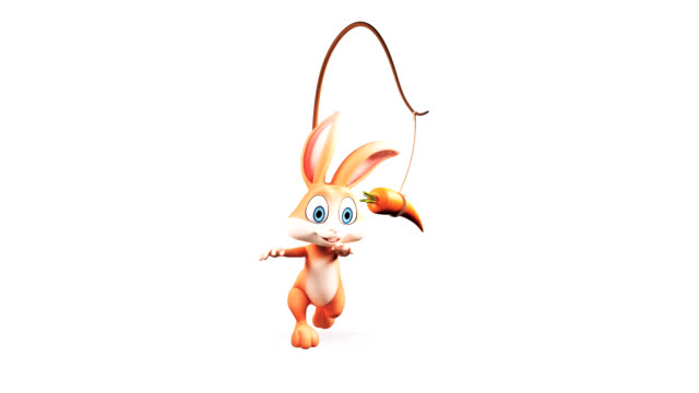 bunny mit karotten - osterhase stock-videos und b-roll-filmmaterial