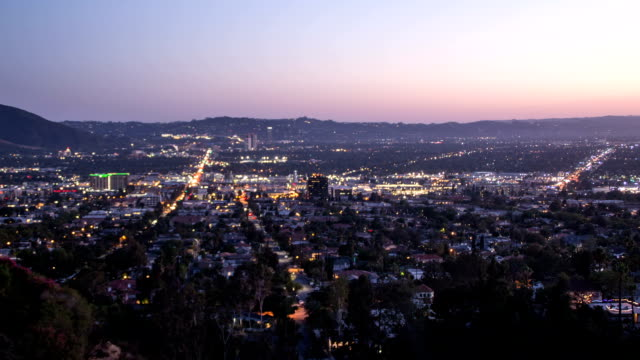 Burbank day to night looping time lapse shot video