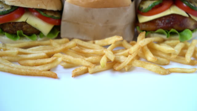 burger with french fries video