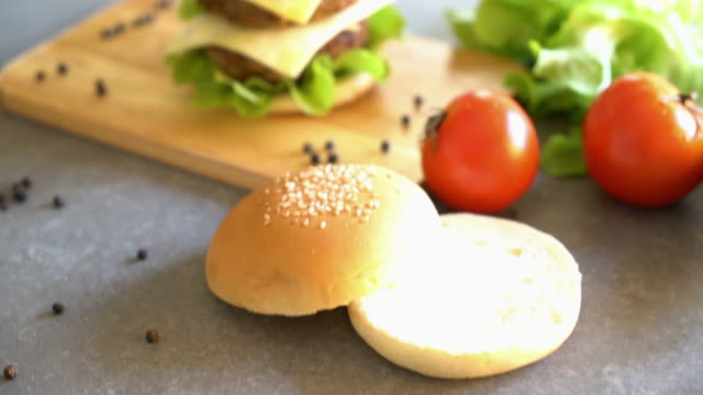 burger with ingredient