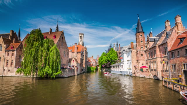 burges townscape - belgium - bruges video stock e b–roll