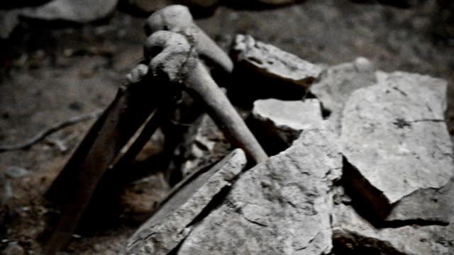 burials - i̇nsan i̇skeleti stok videoları ve detay görüntü çekimi