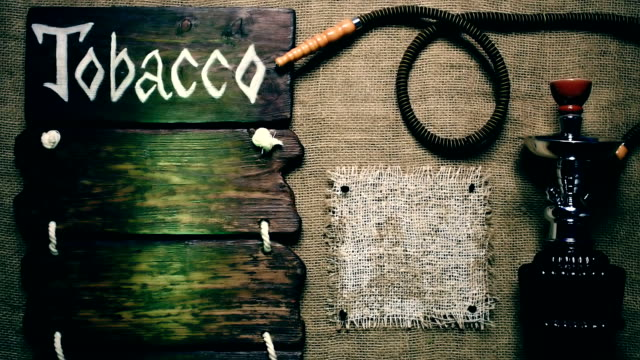 Burlap framed template with hookah video