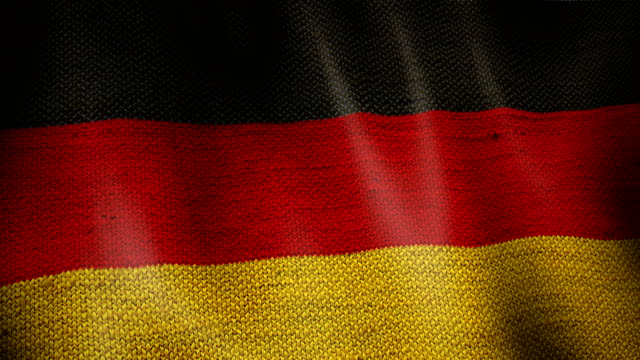 Burlap German Flag. video