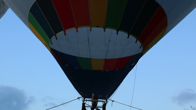 Burner of hot air balloon video